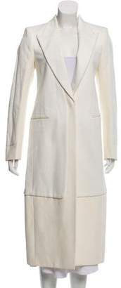 Celine Long Notch-Lapel Coat