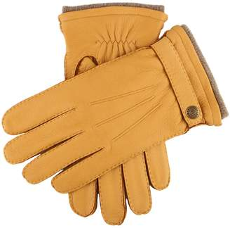 Dents Gloves Dents Gloucester Cashmere Lined Deerskin Gloves in Tan