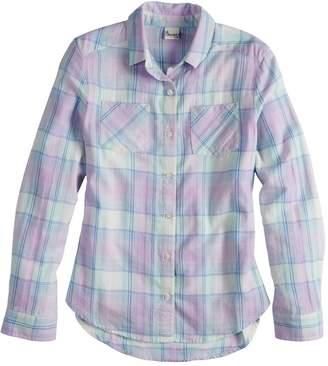 Mudd Girls 7-16 & Plus Size Flannel Long Sleeve Shirt