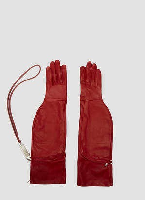 Rick Owens Off-the-Runway Gloves in Red