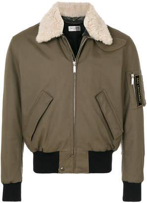 Saint Laurent shearling collar aviator jacket