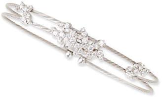 Paul Morelli 18k White Gold Diamond Confetti Double Wire Bracelet