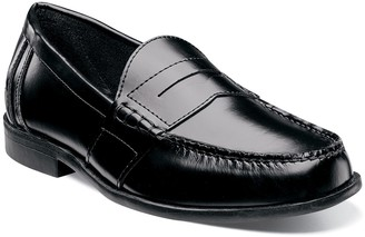 Nunn Bush Kent Men's Moc Toe Penny Loafer Dress Shoes