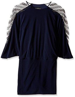 Betsy & Adam Women's Embellished Sleeve Blouson Dress $78.77 thestylecure.com