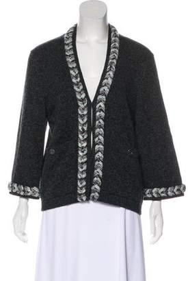 Chanel Braided Cashmere Cardigan
