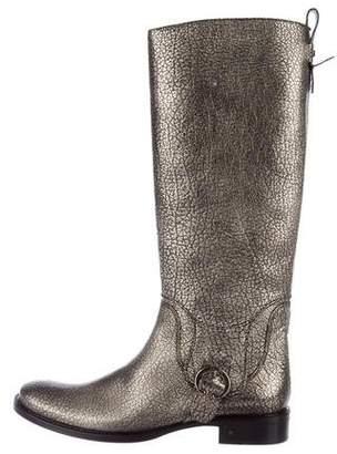 Celine Embossed Knee-High Boots