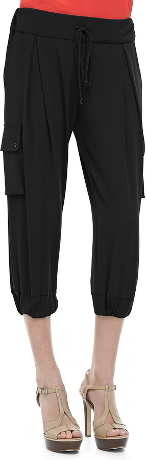 Haute Hippie Cropped Draped Cargo Pants
