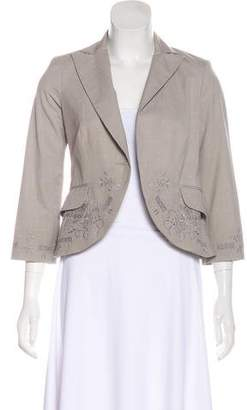 Robert Rodriguez Notched-Lapel Embroidered Blazer