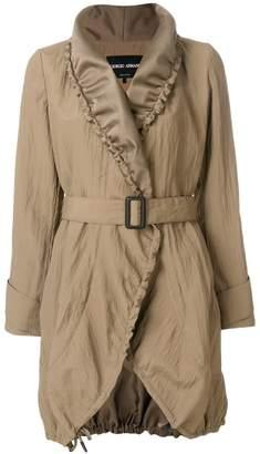 Giorgio Armani satin lapel coat