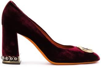 Santoni stud embellished pumps