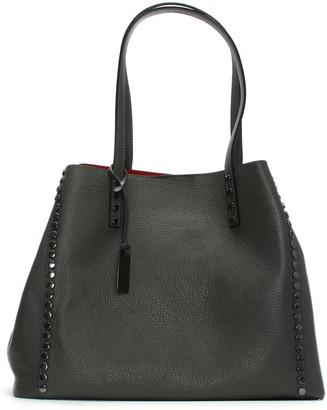 Daniel Mooch Grey Tumbled Leather Studded Tote Bag