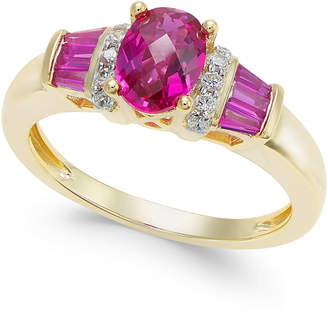 Macy's Ruby (1-1/2 ct. t.w.) and Diamond Accent Ring in 14k Gold