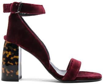 Stella McCartney Velvet Ankle Strap Heels