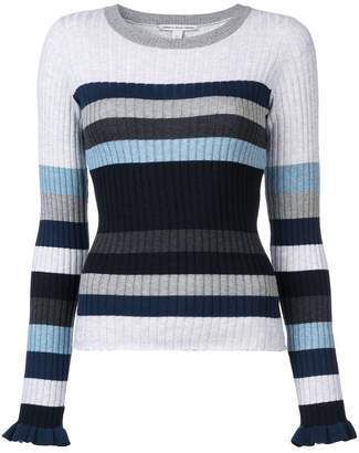 Autumn Cashmere striped rib knit sweater