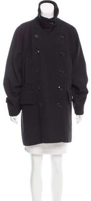 Dries Van Noten Double-Breasted Wool Peacoat