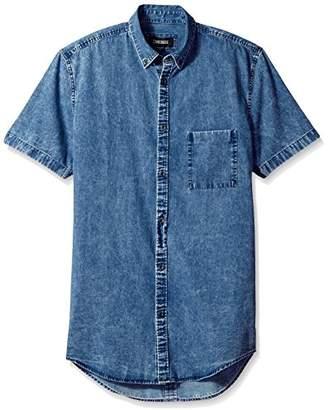 Zanerobe Men's 7ft Short Sleeve Denim Shirt