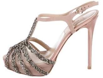 Valentino T-Strap Platform Sandals gold T-Strap Platform Sandals