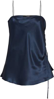 Ellery Leni ruched-side silk-satin cami top