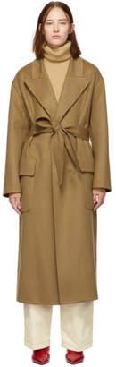 Loewe Tan Wool Botanical Coat