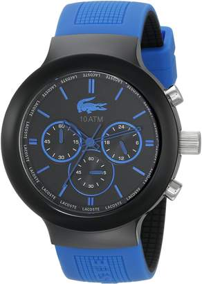 Lacoste Men's 2010654 Borneo Chronograph Watch with Blue Silicone Strap