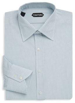 Tom Ford Plaid Cotton Dress Shirt