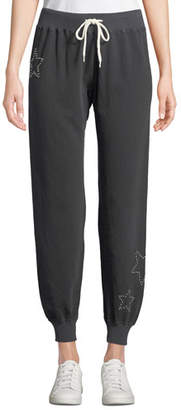 Monrow Studded Drawstring Jogger Sweatpants
