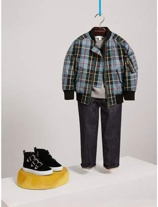 Burberry Quilted Tartan Cotton Gabardine Bomber Jacket