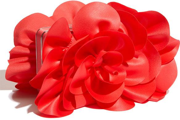 Sondra Roberts 'Rose' Satin Box Clutch