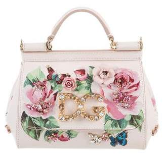 Pre-Owned at TheRealReal · Dolce   Gabbana Mini Sicily Rose Embellished Bag  w  Tags 95e889bdf3e28