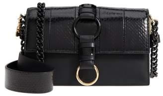 Diane von Furstenberg Bonne Journee Leather & Genuine Snakeskin Crossbody Bag