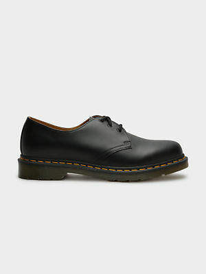 Dr. Martens New Unisex 1461 Oxford Shoes In Smooth Black Noir Leather