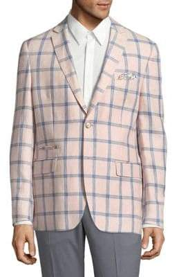 Tallia Windowpane Linen Jacket