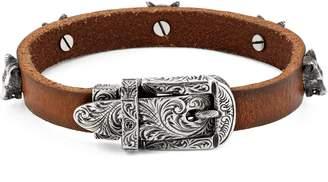 Gucci Anger Forest leather bracelet