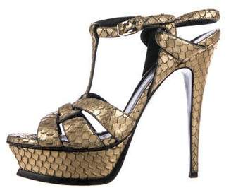Saint Laurent Metallic Tribute Sandals