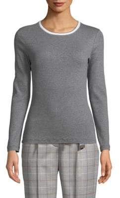 Peserico Ribbed Cotton Pullover
