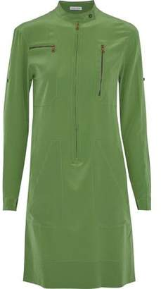 Tomas Maier Zip-Detailed Silk Crepe De Chine Dress