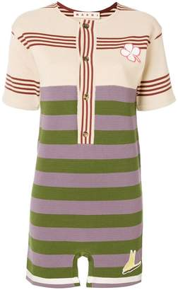 Marni colourblock stripe mini T-shirt dress