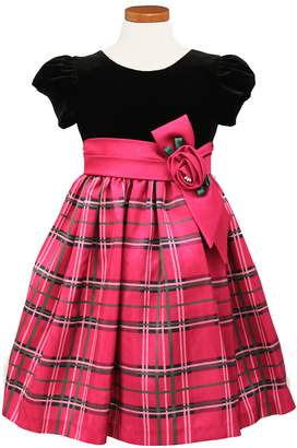 Sorbet Plaid Fit & Flare Dress