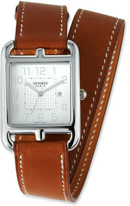 Hermes Large Cape Cod GM Watch with Barenia Leather Strap