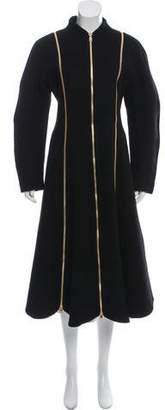 Salvatore Ferragamo 2016 Wool Zip Accented Coat