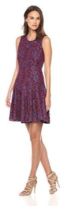 Tommy Hilfiger Women's Sleeveless lace fit and Flare Dress