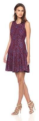 Tommy Hilfiger Women's Sleeveless Rosette Lace Dress