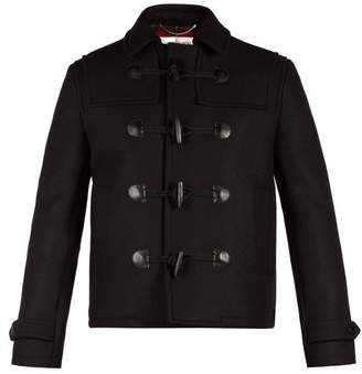 Saint Laurent Cropped Wool Duffle Coat - Mens - Black