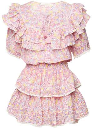 LoveShackFancy Liv Printed Cotton Mini Dress