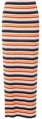 Dorothy Perkins Womens Mulit Coloured Bright Striped Maxi Skirt