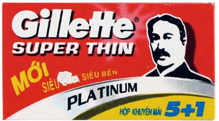 Gillette Super Thin Platinum Double Edge Razor Blades - 6 Pack