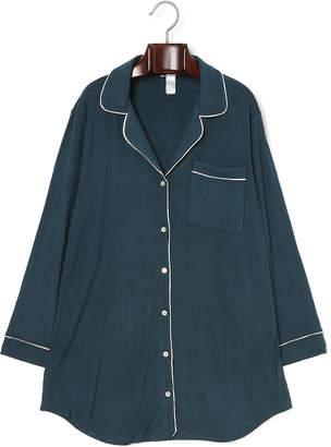 ESTNATION (エストネーション) - ESTNATION EBERJEY ストレッチ パイピング パジャマシャツ グリーン s