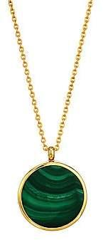 Astley Clarke Women's 18K Yellow Gold Vermeil & Malachite Slice Locket Necklace