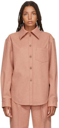 Acne Studios Pink Wool and Cashmere Flannel Shirt