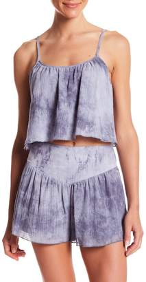 Honeybelle Honey Belle Cropped Tie-Dye Tank Top
